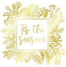 Gemini Foil Stamp Die 'Tis the Season Create A Card (GEM-FS-CAC-TSEA)