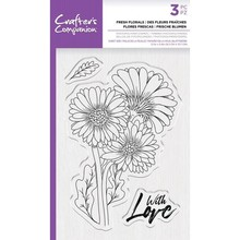 Crafter's Companion Fresh Florals Clear Stamps (CC-STP-FFLO)