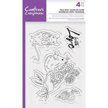 Crafter's Companion Field Mice Clear Stamps (CC-STP-FMICE)