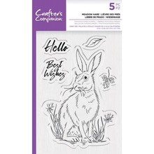 Crafter's Companion Meadow Hare Clear Stamps (CC-STP-MHAR)