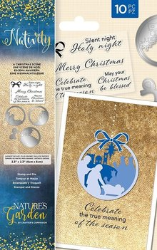 Crafter's Companion Nativity A Christmas Scene Clear Stamp & Die (NG-NAT-STD-ACS)