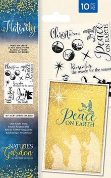 Crafter's Companion Nativity Peace On Earth Stamp (NG-NAT-ST-POE)
