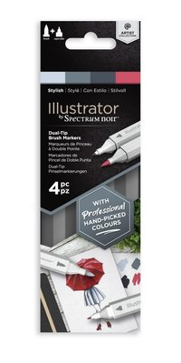Spectrum Noir Illustrator Stylish Alcohol Markers Essentials (4pcs) (SN-IL4-STY)