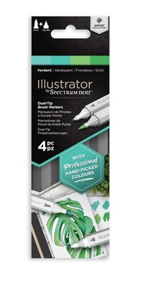 Spectrum Noir Illustrator Verdant  Alcohol Markers Essentials (4pcs) (SN-IL4-VER)