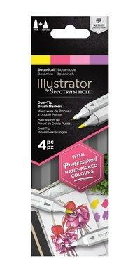 Spectrum Noir Illustrator Botanical  Alcohol Markers Essentials (4pcs) (SN-IL4-BOT)