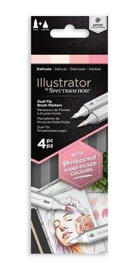 Spectrum Noir Illustrator Delicate Alcohol Markers Essentials (4pcs) (SN-IL4-DEL)