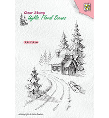 Nellie Snellen Wintery House Clear Stamp (IFS023)