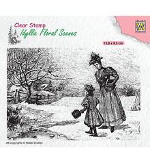 Nellie Snellen Vintage Wintery Scene Clear Stamp (IFS024)