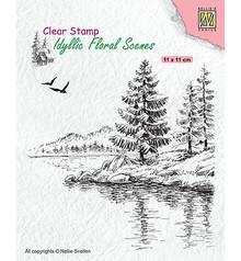 Nellie Snellen Wintery Water's Edge Clear Stamp (IFS025)