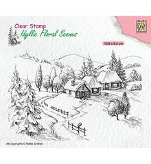Nellie Snellen Idyllic Wintery Scene Clear Stamp (IFS026)