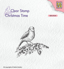 Nellie Snellen Bird On Hobbybranch Clear Stamp (CT032)