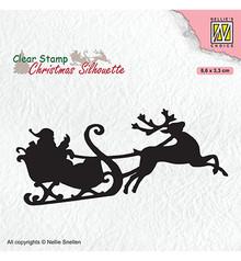 Nellie Snellen Santa Claus With Reindeer Sleight Clear Stamp (CSIL011)