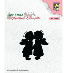 Nellie Snellen Two Kissing Angels Clear Stamp (CSIL012)