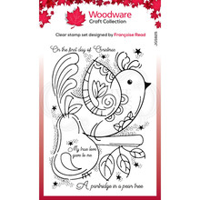 Woodware Singles Partridge Clear Stamp Set (FRS825)