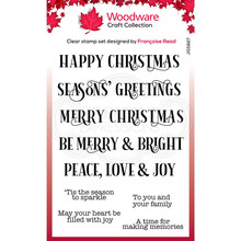 Woodware Singles Christmas Sparkle Clear Stamp Set (FRS827)