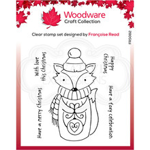 Woodware Singles Foxy Christmas Clear Stamp Set (FRS082)