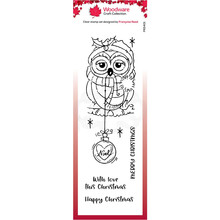 Woodware Singles Bauble owl Clear Stamp Set (FRS401)