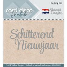 Card Deco Snijmal Schitterend Nieuwjaar (CDECD0039)