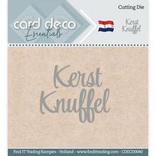 Card Deco Snijmal Kerst Knuffel (CDECD0040)