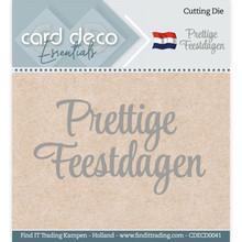 Card Deco Snijmal Prettige Feestdagen (CDECD0041)