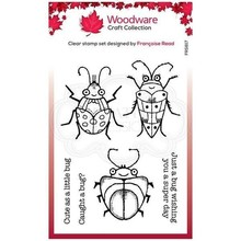 Woodware Cute Bugs Clear Stamp Set (FRS817)