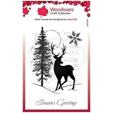 Woodware Singles Musical Deer Clear Stamp Set (FRS827)
