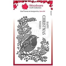 Woodware Singles Robin And Holly Clear Stamp Set (FRS728)