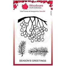 Woodware Singles Festive Hanging Berries Clear Stamp Set (FRS833)