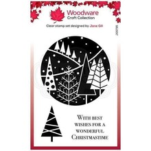 Woodware Singles Festive Circle Clear Stamp Set (FRS835)