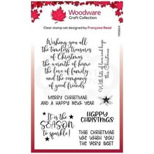 Woodware Singles Special Christmas Words Clear Stamp Set (FRS824)