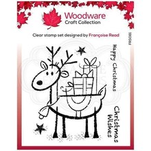 Woodware Singles Rudolp Pressies Clear Stamp Set (FRS081)