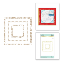 Spellbinders Christmas Essential Glimmer Squares Glimmer Hot Foil Plates (GLP-181)