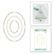 Spellbinders Christmas Essential Glimmer Ovals Glimmer Hot Foil Plates (GLP-182)