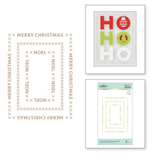 Spellbinders Christmas Essential Glimmer Rectangles Glimmer Hot Foil Plates (GLP-183)