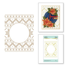 Spellbinders Christmas Sweater Background Glimmer Hot Foil Plate (GLP-198)