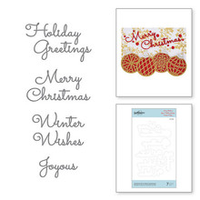 Spellbinders Snijmal Christmas Mix & Match Sentiments Etched Dies (S4-1065)