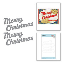 Spellbinders Snijmal Bold Type Merry Christmas Etched Dies (S4-1067)