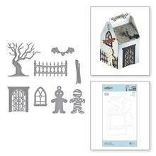 Spellbinders Snijmal Spooky Cottage Etched Dies (S4-1071)