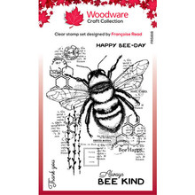 Woodware Singles Bee Kind Clear Stamp Set (FRS816)