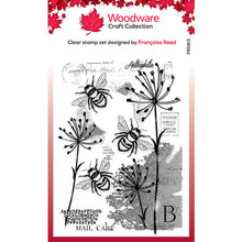 Woodware Singles Three Bees Clear Stamp Set (FRS813)