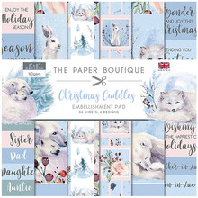 The Paper Boutique Christmas Cuddles 8x8 Inch Embellishment Pad (PB1363)