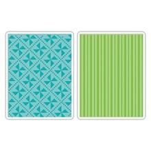 Sizzix Textured Impressions Pinwheels & Stripes Set (658989)