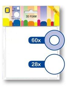 JEJE Produkt 3D Foam Round 6 mm & 12 mm x 2 mm (3.3122)