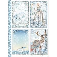 Stamperia Winter Tales Rice Paper A4 Cards (DFSA4490)