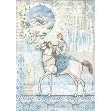 Stamperia Winter Tales Rice Paper A4 Horse (DFSA4492)