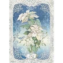 Stamperia Winter Tales Rice Paper A4 Poinsettia (DFSA4493)