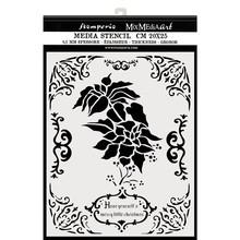 Stamperia Mixed Media Stencil Thick 20x25cm Winter Tales Poinsettia (KSTD053)