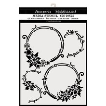 Stamperia Mixed Media Stencil Thick 20x25cm Winter Tales Garlands (KSTD054)