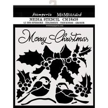 Stamperia Media Stencil Merry Christmas (KSTDQ46)