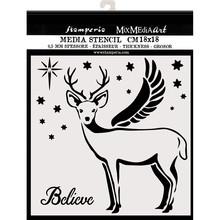 Stamperia Media Stencil Deer (KSTDQ48)